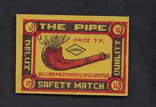 Ancienne. étiquette  allumettes Inde  BN9035 Pipe