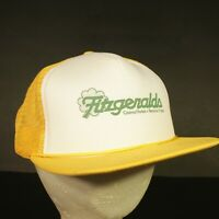 e96faa62a Vintage Fitzgeralds Casino Trucker Hat Cap Mesh Snapback Yellow Retro  Hipster