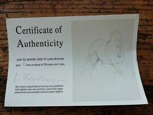 Lydia Kiernan Giclee Horse Print Limited Edition 96 /350