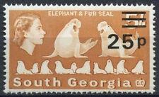 Georgia del Sur 1977-8 SG#65, 25p 5s wmk corona izquierda en papel satinado #D18856 estampillada sin montar o nunca montada