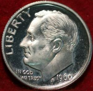 Uncirculated Proof 1960 Philadelphia Mint Silver Roosevelt Dime