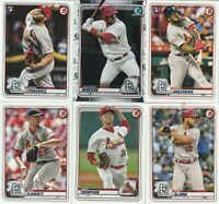 2020 BOWMAN J Fernandez R Arozarena E Montero St. Louis Cardinals 6 CARD LOT