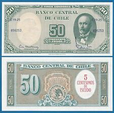 Chile 5 Centesimos on 50 Pesos P 126 UNC ND (1960-61) Low Shipping Combine FREE!