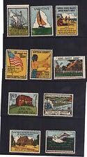 1939 New York Worlds Fair Stamp Label Set Suffolk County Complete - Rare - set b