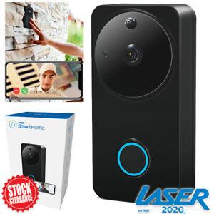 LASER Smart Doorbell WiFi Camera Video Door Bell Intercom Ring Chime & Mic