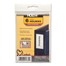 "Cardinal Label Holder 2-3/16""x4"" 6/PK Clear 21830"