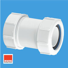 "Mcalpine Multifit Universal Coupler For 40mm 1-1/2"" Waste Pipe Connector T28M"
