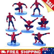 7pcs Spiderman figurines Cake topper Action Figures Boy KidsToy Set