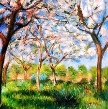 Claude Monet - Printemps à Giverny 80x80 cm Peinture à l'huile