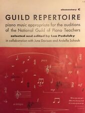 Guild Repertoire selected and edited by Leo Podolsky