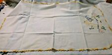 Antique Embroidered Dresser Scarf or Runner ~ Linen ~ Textile Embroidered #1948
