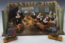 Antique Easter Rabbit school Dollhouse/Classroom