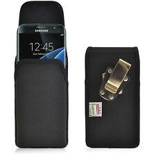 Turtleback Galaxy S7 Edge Vertical Nylon Pouch Holster Case Metal Belt Clip