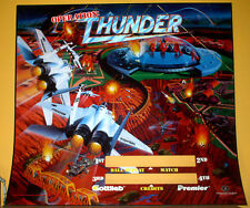 ORIGINAL Operation Thunder Pinball Translite Backglass Art Sheet by Gottlieb