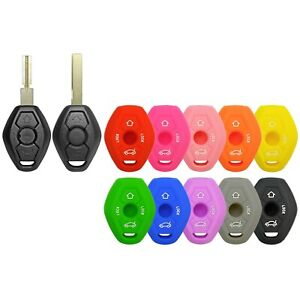 Silicone Protective Rubber Keyless Remote Head Key Fob Cover Case BMW LX8 FZV