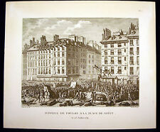 Supplice de Foulon à la place de Grève 1789 Révolution française Berthault XIX