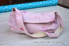Fatto A Mano Carino Rosa Pajama MEZZALUNA Borsetta Inverno Designs con topstiching