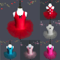 Toddler Girls Gauze Leotards Ballet Bodysuit Dancewear Dress Clothes Outfits XIU
