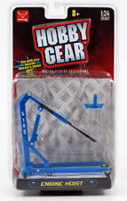 New! Hobby Gear: Craftmaster Engine Hoist 1/24 Scale for Diecast Toys (Blue)