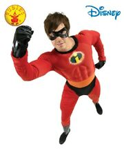 Disney Muscle Jumpsuit Superhero Fancy Dress  Mr Incredible Adult Costume