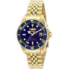 Invicta Women's Watch Pro Diver Quartz Blue Dial Yellow Gold Bracelet 29191