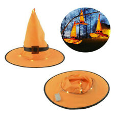 Halloween Decoration Outdoor Hanging Lighted Glowing Witch Hat Lights String NEW