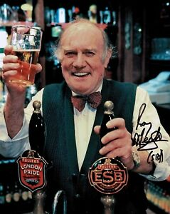 Roy HEATHER Only Fools And Horses Barman Sid SIGNED 10x8 Photo 2 AFTAL COA
