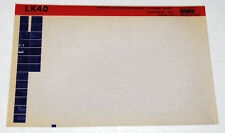 DEC LK40 A,B,C,B Keyboard Manual Microfiche