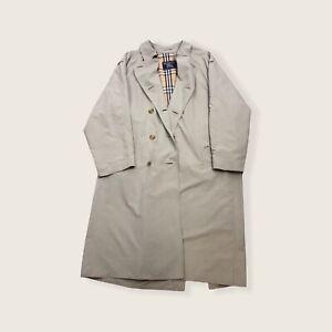 Vintage BURBERRY Nova Check Beige Trench Coat Mens XL