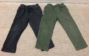💙 (2) OLD NAVY 3T Sweat Pants Draw String Elastic Waist Blue Green Toddler Boy
