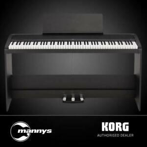 Korg B2 Digital Piano w/ Stand & Triple Pedal Unit (Black)