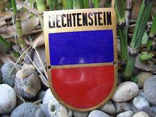 alte FÜRSTENTUM LIECHTENSTEIN Wappen emaillierte Auto Plakette Car Badge
