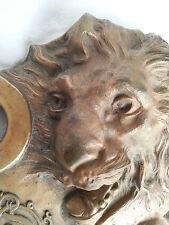 Beau set de bureau en bronze animalier décor de lion poids > 2kg!!!!