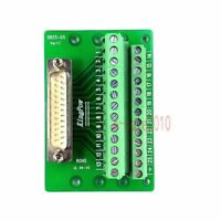 D-SUB DB25 Plug Male Header Breakout Board, Terminal Block Solderless Connector
