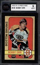 1972 73 OPC #129 BOBBY ORR CARD KSA 9 MINT