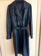 ESCADA Sport Deep Navy Blue Leather Jacket/Coat & Belt Sz 40 EU  Sz 10 US
