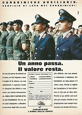 X0182 Carabiniere ausiliario - Pubblicità 1992 - Vintage Advertising