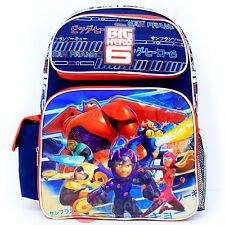 """Disney Big Hero 6 Large School Backpack 16"""" Boys Hamada Baymax Book Bag  City"""