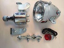 Bicycle Motorised Bike Friction generator Dynamo Headlight Tail Light 12V 6W new
