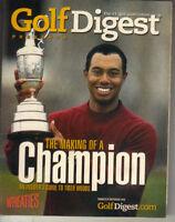 TIGER WOODS Golf Digest Mini Magazine 2001 WHEATIES