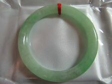 "55.5mm NATURAL Green Jade Chinese Bangle Bracelet 2-3/16"" #A136"