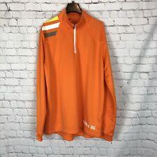 Men's Adidas Golf Orange Long Sleeve 1/4 Zip Up Pullover Jacket Size L