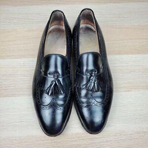 Johnson Murphy Mens Aristocraft Loafer Size 9 D Wing Tip Black Tassel Leather
