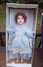 "William Tung Moments Treasured Porcelain Doll Christa 1991 25""  COA"