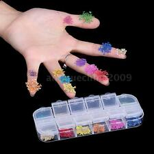 Practical Dried Flowers 3D Nail Art DIY Decoration Flower Manicure Tips T1X0
