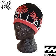 BILLABONG 'CONNECT' WOMENS BEANIE BLACK + PINK HAT CAP SURF SURFER BNWT RRP £15