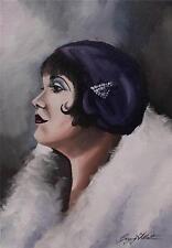 Dipinto originale olio su tela ritratto da Gregory Tillett: tutto moderna