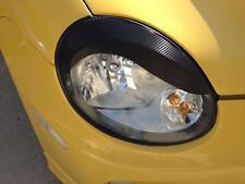 Dodge Neon real 3M-Carbon Fiber vinyl Headlight Eyelid Overlays-Curve brows srt4