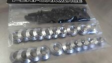 20 PCS  YP CONCAVE SILVER FENDER BOLT/WASHER DRESS UP KIT HONDA ACURA CIVIC RSX
