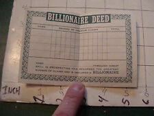 vintage paper: 1956 BILLIONAIRE DEED not filled out URANIUM CLAIMS ???